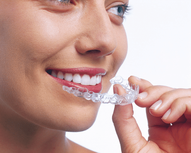 before inserting invisalign clear aligner