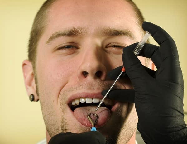 What does your dentist think about tongue piercing?