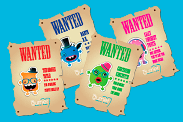 tooth terror wanted posters